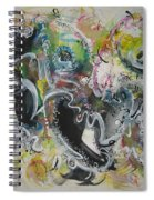 Calligraphy Abstract 03 Spiral Notebook