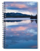 Calm Twin Lakes At Sunset Yukon Territory Canada Spiral Notebook