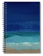 Calm Waters- Abstract Landscape Painting Spiral Notebook