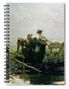 Calves At A Pond, 1863 Spiral Notebook