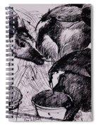 Calves, Damp, Newborn, 1978 Pen & Ink On Paper Spiral Notebook