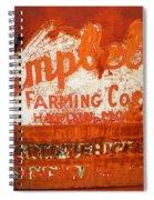 Cambell Farming Corperation Hardin Montana Spiral Notebook