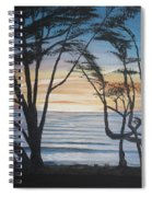 Cambria Cypress Trees At Sunset Spiral Notebook