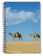 Camel Train Spiral Notebook