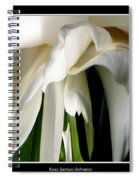 Camellia Abstract Spiral Notebook