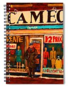 Cameo Dress Shop Spiral Notebook