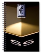 Camero Ss Hood View Spiral Notebook
