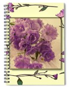 Campanula Framed With Pressed Petals Spiral Notebook