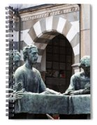 Campari Grave Marker Detail IIi Disciples Last Supper Spiral Notebook
