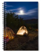 Campfire And Moonlight Spiral Notebook