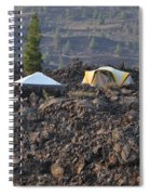 Camping On The Moon Spiral Notebook