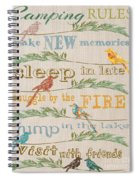 Camping Rules-c Spiral Notebook