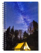 Camping Under The Milky Way Spiral Notebook