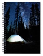 Camping Under The Stars Spiral Notebook