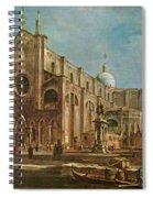 Campo Dei Santi Giovanni E Paolo And The Scuola Grande Di San Marco, Venice Oil On Canvas Spiral Notebook