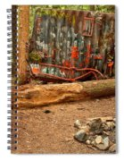 Campsite By The Box Car Spiral Notebook