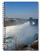Canada And America At Niagara Falls Spiral Notebook