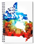 Canada - Canadian Map By Sharon Cummings Spiral Notebook