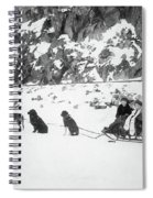 Canada Dog Sled, C1910 Spiral Notebook