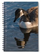 Canada Goose Winter Swim Spiral Notebook