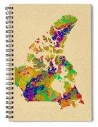 Canada Watercolor  Spiral Notebook