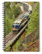 Canadan Railroad Above The Cheakamus River Spiral Notebook