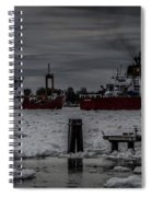 Canadian And United States Icebreakers Spiral Notebook