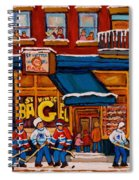 Canadian  Artists Paint Hockey And Montreal Streetscenes Over 500 Prints Available  Spiral Notebook