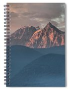 Canadian Coastal Mountains Sunset Spiral Notebook