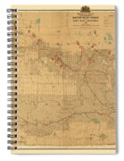 Canadian Mounted Police Map Spiral Notebook
