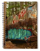 Canadian Pacific Box Car Wreckage Spiral Notebook