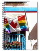 Canadian Rainbow Flag Spiral Notebook
