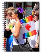 Canadian Rainbow Spiral Notebook