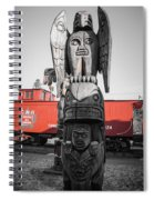 Canadian Totem And Railway Spiral Notebook