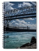 Canadian Tranfer Under Blue Water Bridges Spiral Notebook