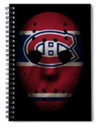 Canadiens Jersey Mask Spiral Notebook
