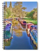 Canal Barges Spiral Notebook
