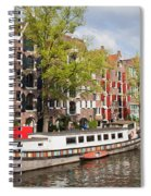 Canal In Amsterdam Spiral Notebook