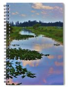 Canal In The Glades Spiral Notebook
