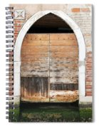Canalside Weathered Door Venice Italy Spiral Notebook