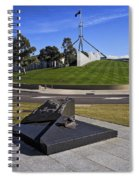 Canberra - Memorial And Parliament House Spiral Notebook