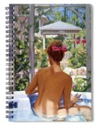 Candace Being Candlish On Canvas Spiral Notebook