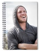 Candid Portrait Of Laughing Young Spiral Notebook