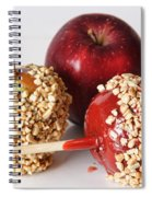 Candied Caramel And Regular Red Apple Spiral Notebook