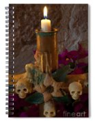 Candle On Day Of Dead Altar Spiral Notebook