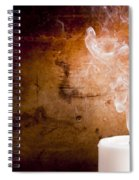 Candle Smoke Trails Spiral Notebook