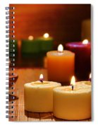 Candles Burning In A Spa  Spiral Notebook