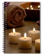 Candles In A Spa Spiral Notebook