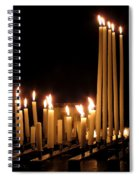 Candles In Church Spiral Notebook