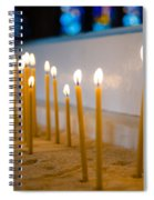 candles in the Catholic Church shallow depth of field Spiral Notebook